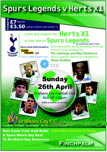 Spurs Legends v Herts X1 2015