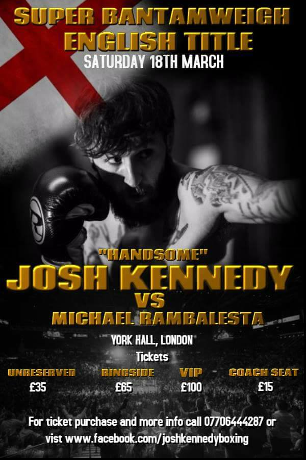 Josh Kennedy Boxer - Next Fight 18th March 2017